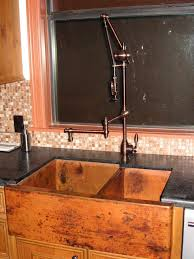 copper kitchen faucets best images about peculiar faucet designs on copper kitchen sink