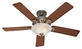 interior ceiling fan using five beige blade with bronze bracket