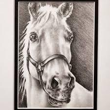 shop art drawings of horses on wanelo