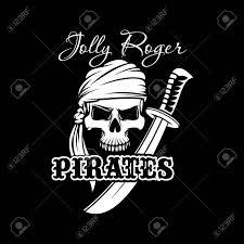 Black American Flag Bandana Pirate Skull In Bandana With Sword Jolly Roger Sign Of Pirates