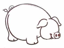 how to draw cartoon pigs step by step how to draw step by step