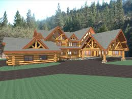 Luxury Log Home Plans Hawkeye 15281 Sq Ft Luxury Log Home Plans Log Cabin Kit