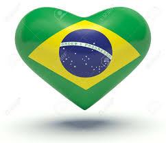 Brazil Flag Image Heart With Brazil Flag Colors 3d Render Illustration Stock Photo