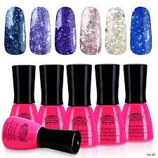 perfect summer uv led light soak off nails enamel polsih glitter