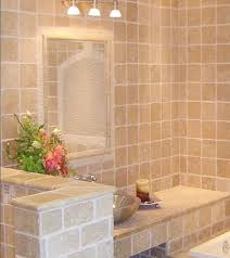 Elegant Ivory Travertine Tile Traditional Bathroom New York - Travertine in bathroom