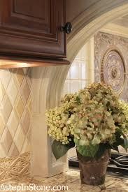 kitchen backsplash hand made ceramic tile with medallion