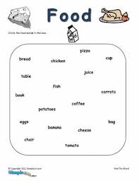 food vocabulary worksheets pdf mreichert kids worksheets