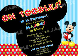 How To Make Minnie Mouse Invitation Cards Mickey Mouse Clubhouse Birthday Invitations Marialonghi Com