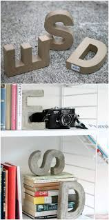 monogram bookends 40 creatively cool concrete projects you need in your right
