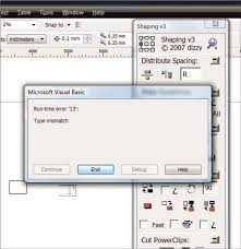 corel draw x5 runtime error dizzy shaping run time error coreldraw graphics suite x5