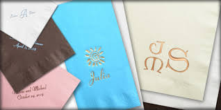 personalized napkins custom imprinted napkins printed napkins