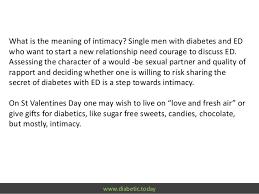 gifts for diabetics diabetic today hello intimacy goodbye erectile dysfunction happy
