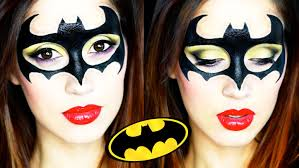 batgirl halloween makeup tutorial 2015 youtube