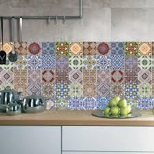 home decor tile 5pcs set arabic style tile floor sticker waterproof pvc wall