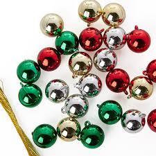 miniature shiny metallic ornaments