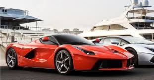 ferrari front view ferrari laferrari and yachts front view rosso corsa paint