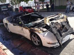 corvette junkyard california c5 corvette goes up in flames on south sometimes corvettes
