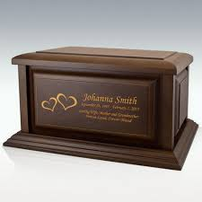 creamation urns traditional walnut wood cremation urn engravable