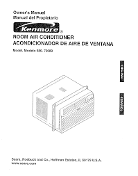 kenmore air conditioner 580 72089 user guide manualsonline com