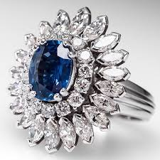 diamond cocktail rings sapphire cocktail ring w nearly 3 carats of diamond accents 18k
