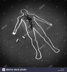 heart attack medical concept as a chalk drawing of a human on a