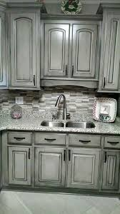 1000 Ideas About Glazing Cabinets by Valspar Aspen Grey And Black Glaze Painting Cabinets Pinterest