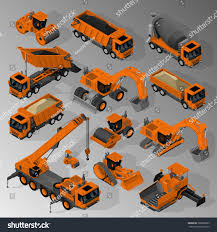 vector isometric set equipment construction industry stock vector