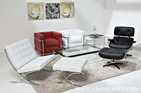 Lc Sofa Le Corbusier Lc Petit  Seat Sofa Black Leather Lc - Corbusier sofas