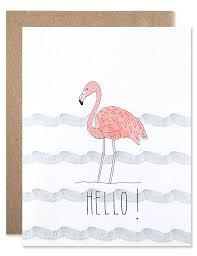 hello flamingo greeting card hartlandbrooklyn