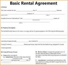 basic rental agreement forms free printable ms word cv template