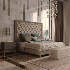 tall headboard beds italian designer art deco inspired upholstered bed with tall
