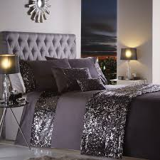 charcoal bedding portofino dazzle glitter duvet bedding set with sequins purple
