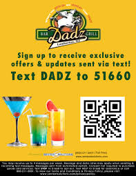 thanksgiving text messages dadz bar and grill sports bar