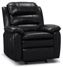 adam leather look fabric reclining glider chair u2013 brown the brick
