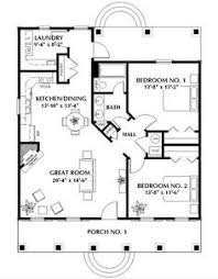 Two Bedroom Tiny House Cute Tiny House Plan With Two Bedrooms A Wrap Around Porch And A