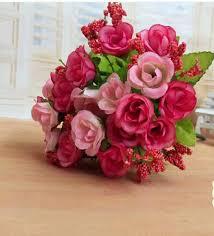 Silk Flowers Wholesale 2017 Promotional Advertising Simulation Flower Wholesale Rose Bud