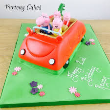 peppa pig cake ideas peppa pig cake family car delivered free to your home