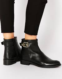 womens boots dune dune padston black leather buckle flat ankle boots stuff i need