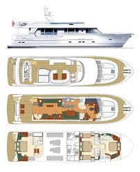 yacht floor plans trader superyacht 70 75 deck plans