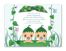 baby shower invitations for twins twin baby shower invitations