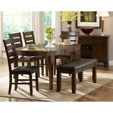 butterfly leaf dining table set ameillia pc oval dining set with butterfly leaf table side gallery