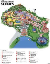 disney park maps mgm disney theme park walt disney