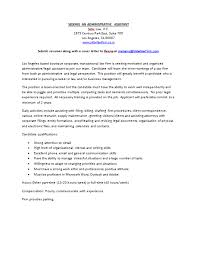 cover letter for fashion administrative assistant letter thank you