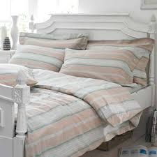 Duck Egg Blue Bed Linen - cute striped bed skirt in different look hq home decor ideas