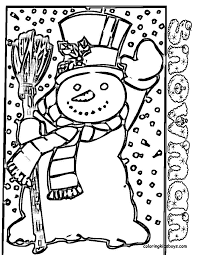 large snowman coloring page printable pictures of snowman snowman with hat mittens scarf and