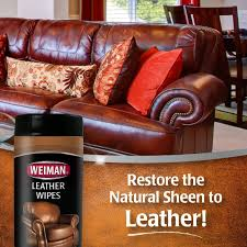 How To Clean A Leather Sofa Amazon Com Weiman Leather Wipes Cleaner U0026 Conditioner 30 Count