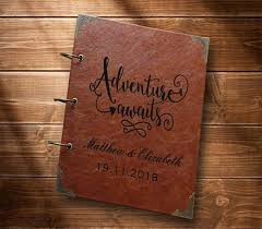 personalized leather photo album leather travel photo album our adventure book personalized