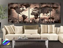 home interior framed xlarge 30 x 70 5 panels canvas print original wonders of the