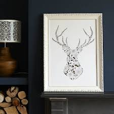 stag head designs gold stag u0027s head print by catherine colebrook notonthehighstreet com