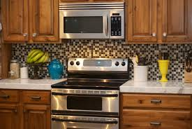 Kitchen Backsplash Ideas 2014 Love This Granite Counter With Manhattan Glass Mosaic Backsplash
